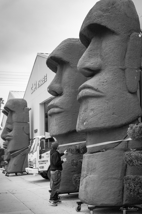 Statues at a Hollywood Set Building Company